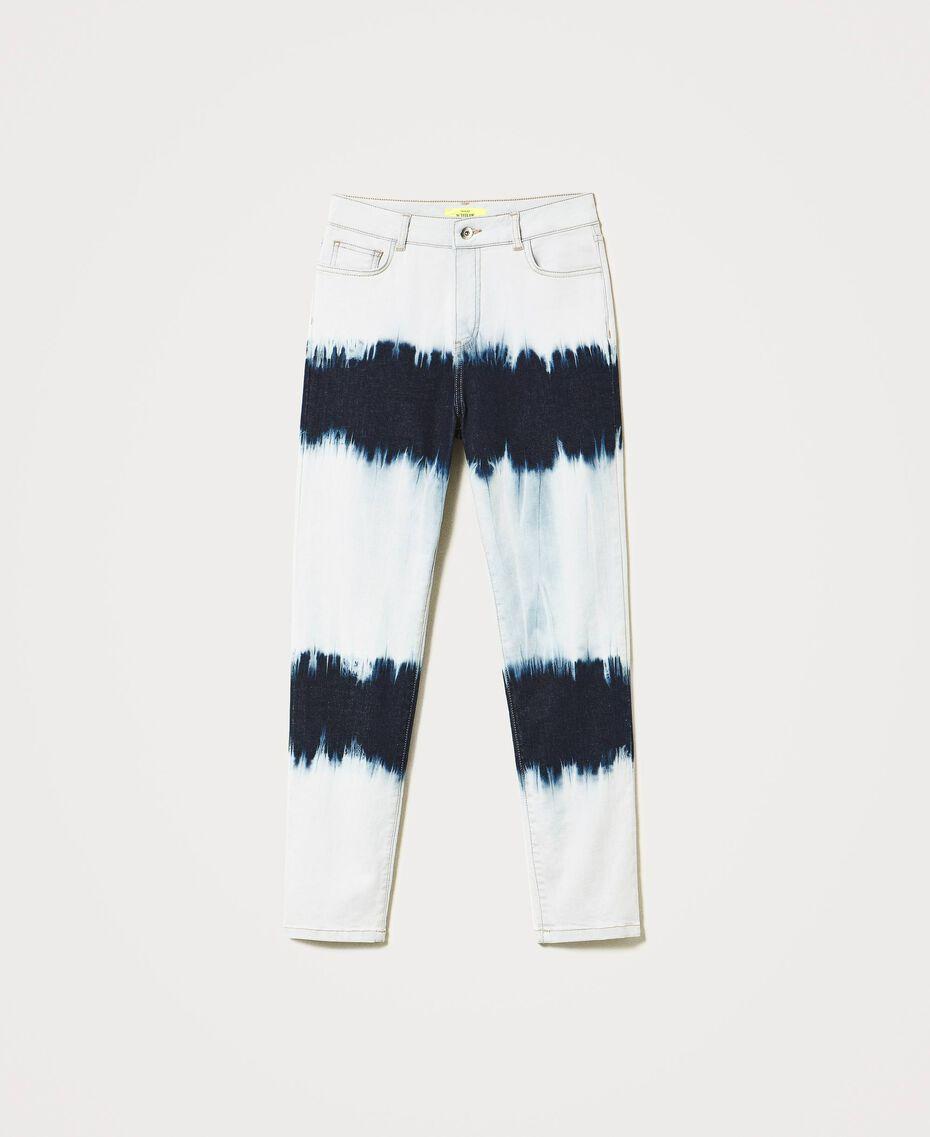 Slouchy-Jeans mit Tie-Dye Tie-Dye-Denim Frau 211MT211D-0S