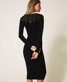 Vestido de tubo de punto Negro Mujer 202TT3120-03