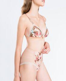 Soutien-gorge triangle imprimé floral Imprimé Mélange Fleurs Rose Ballerines Femme IA8E22-02