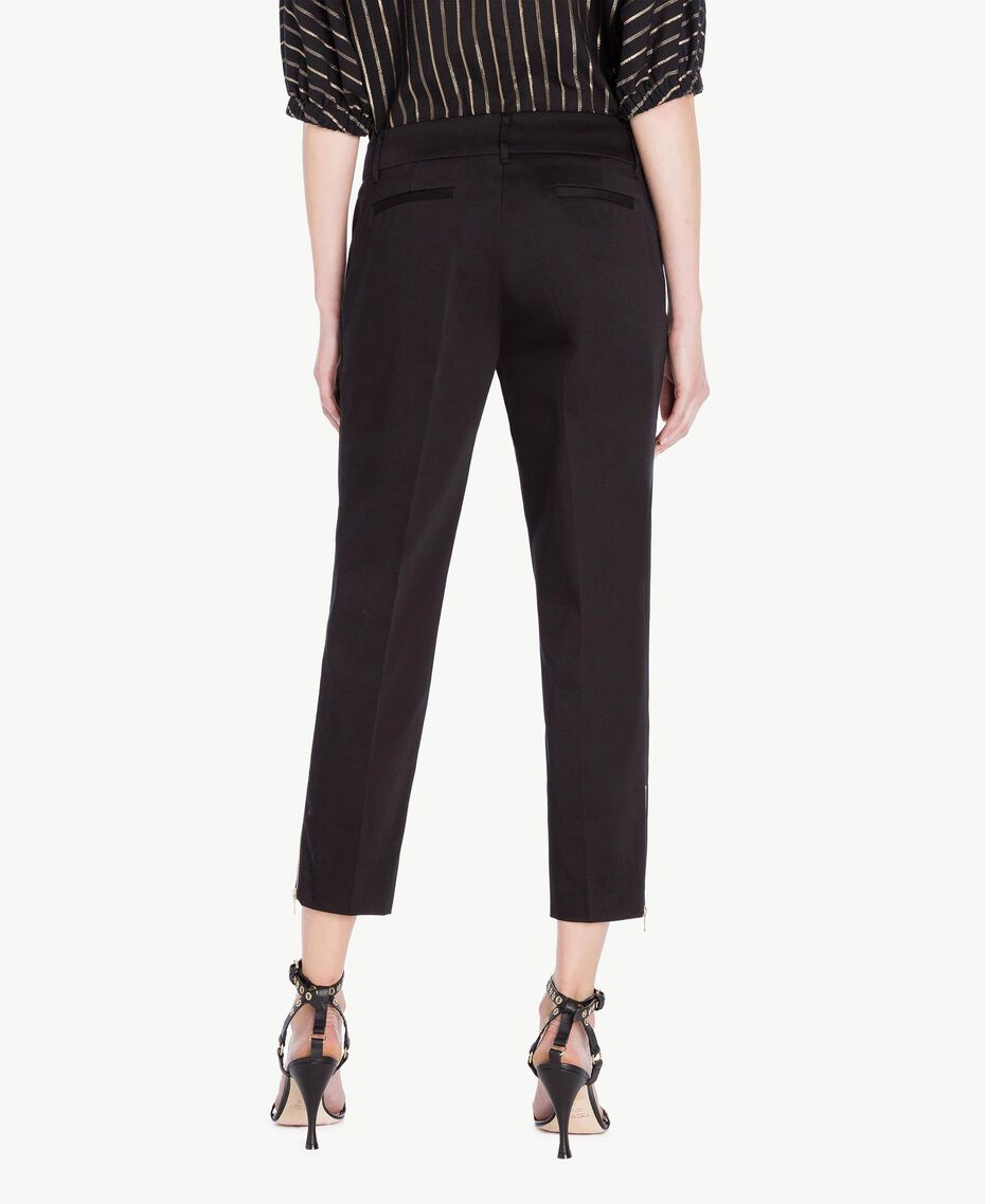 Satin trousers Black Woman TS826B-03