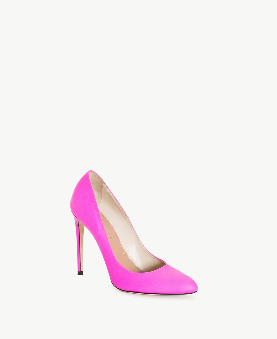 TWINSET Leather court shoe Hydrangea Pink Woman CS8PD1-02