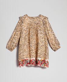 Georgette animal print dress Leopard Print / Floral Child 192GB2570-01