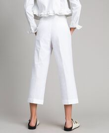 Poplin trousers White Woman 191TT2232-03