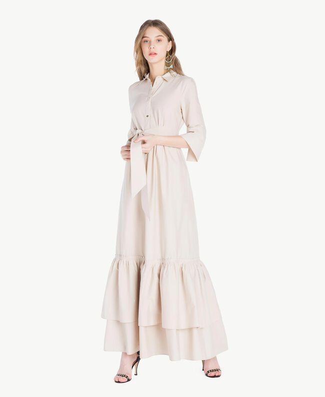 Langes Kleid aus Popeline Dune Frau TS821B-01