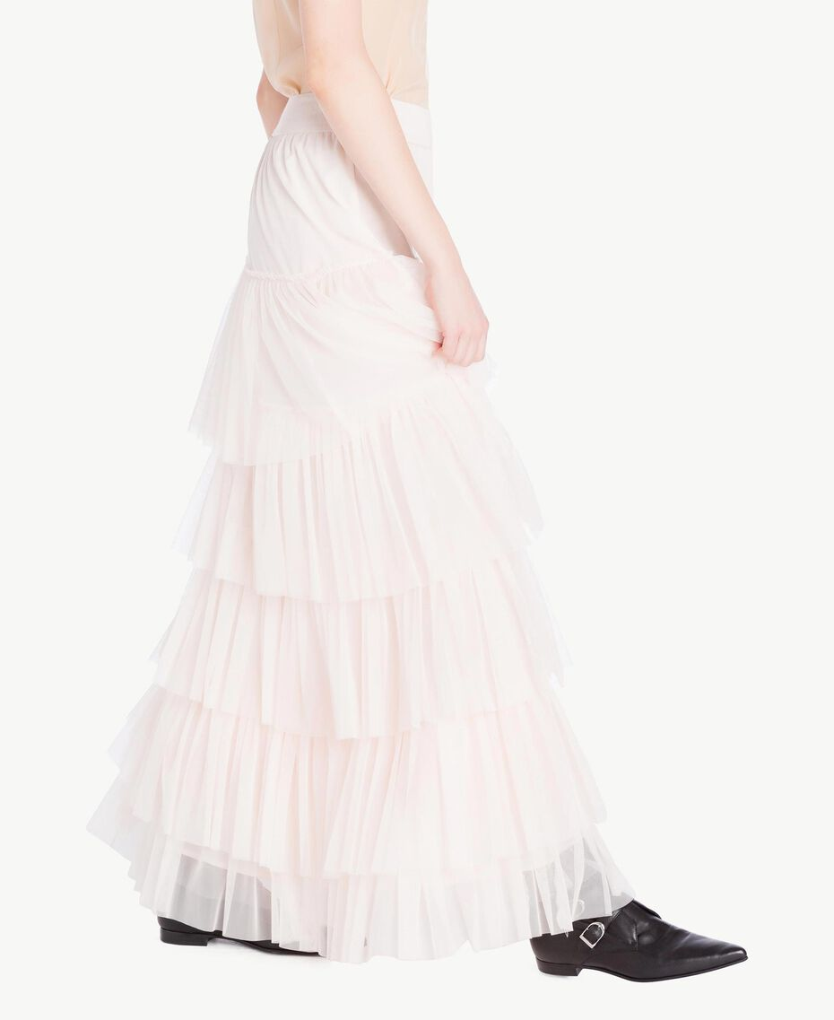 Tulle skirt Pale Ecru Woman PS8271-02
