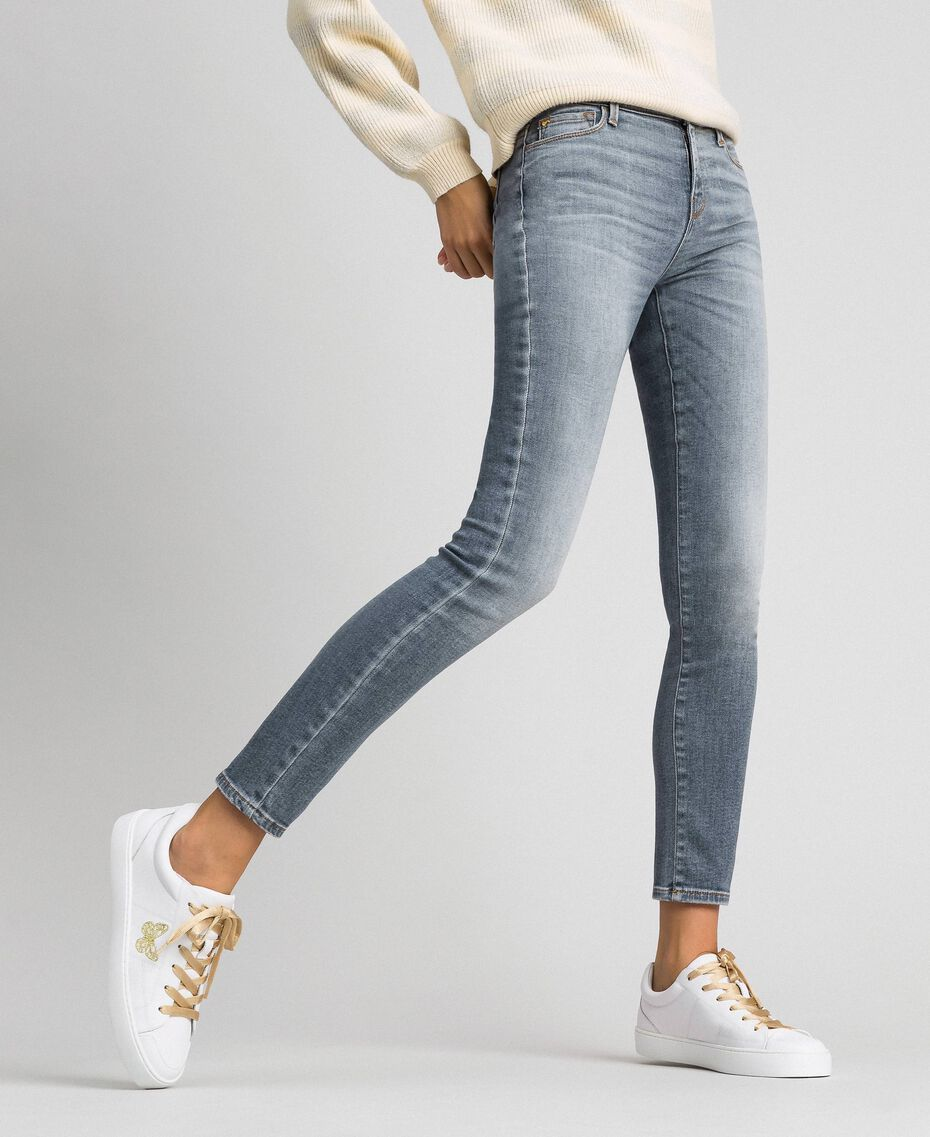 Push up jeans with five pockets Grey Denim Woman 192MT221B-01