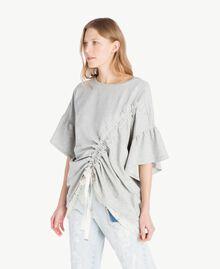 Sweatshirt aus Spitze Hellgrau-Mélange Frau YS82KA-02