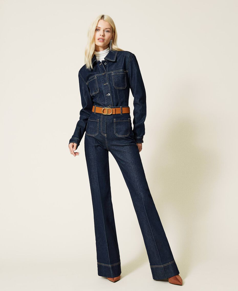 Jeans bell bottom 'Gold' Denim Rinse Donna 212AP2135-02