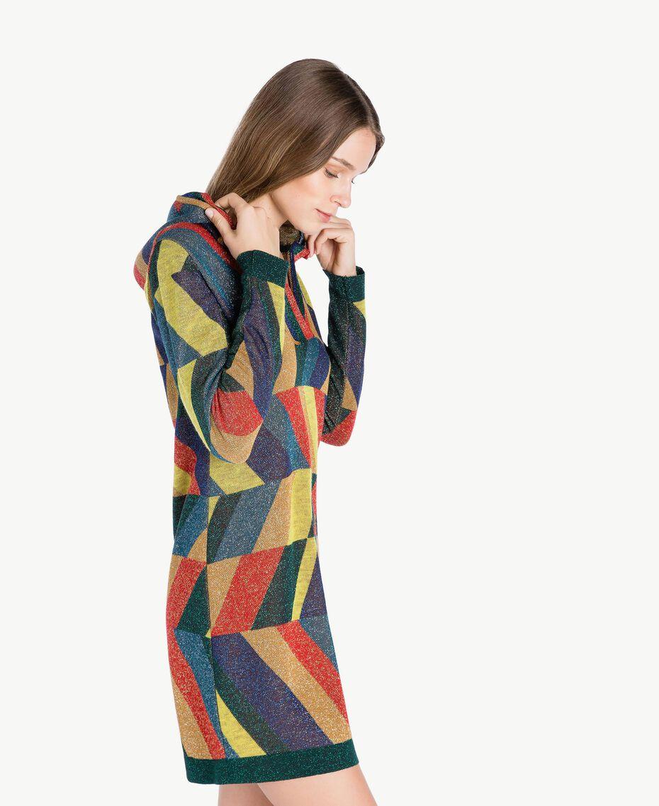 "Vestido de jacquard de lúrex Multicolor ""Jacquard Geométrico"" Femenino PA738S-02"