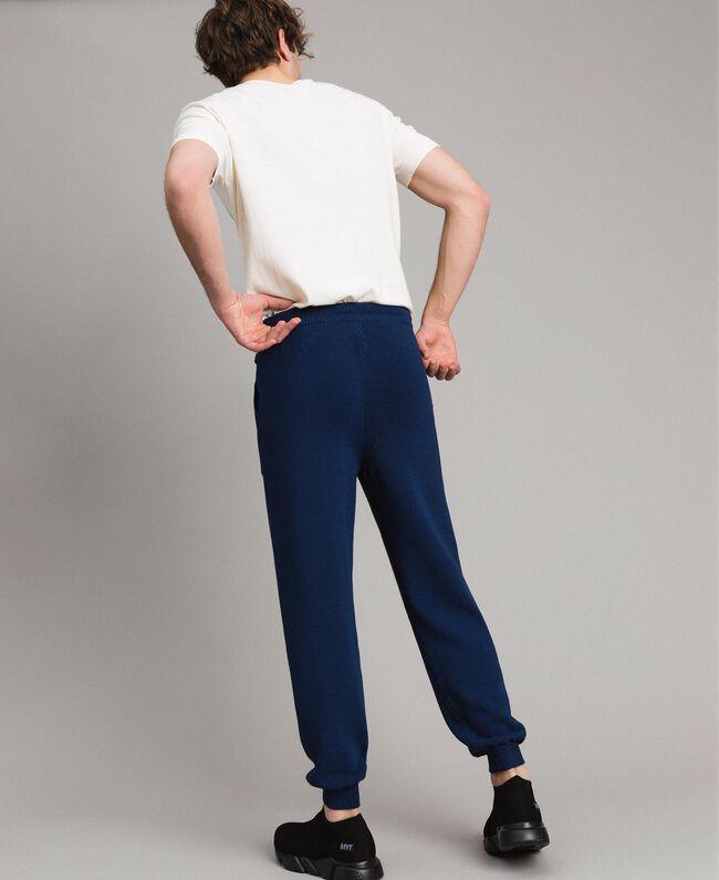 Jogginghose aus Baumwollmischung Blackout Blau Mann 191UT3083-04