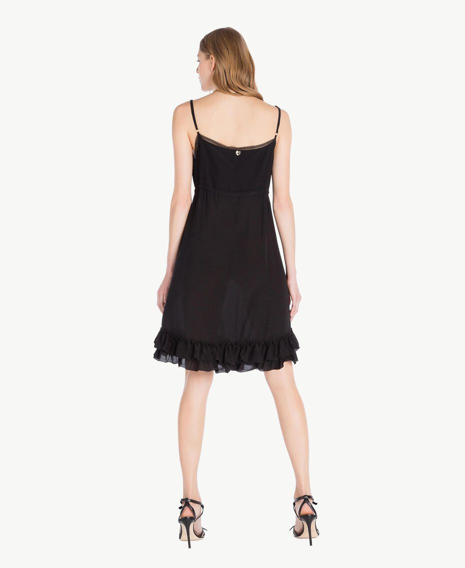 Robe soie Noir Femme TS82UA-03