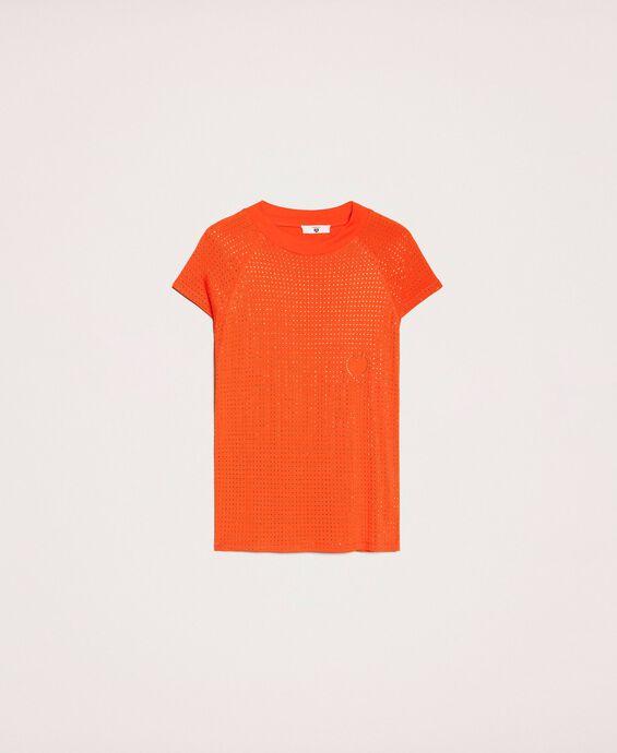 T-Shirt mit Allovernieten