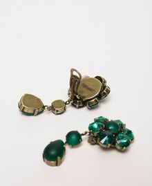"""Pendant earrings with bezels """"Green Jade"""" Green Woman 201TO5307-02"""