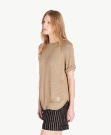 Pullover aus Lurex Lurex Kamelbraun Frau TS8331-02