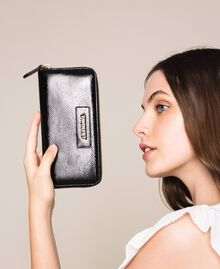 Patent leather effect faux leather wallet White Woman 201TO8270-0S