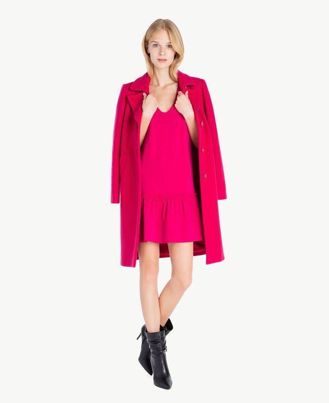 """Kleid mit Volant """"Anemonen""""-Fuchsia PA72TG-05"""