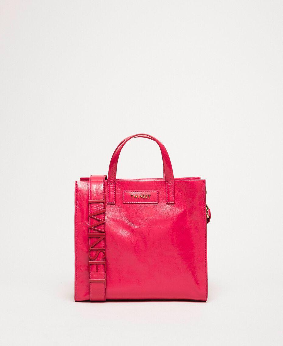 """Borsa shopper media in pelle con logo Rosa """"Jazz"""" Donna 201TO8091-02"""