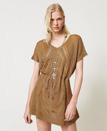 Sautoir avec croix Or «Laiton Vieilli Cuivré» Femme 211TO5011-0S