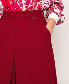 Poplin cropped trousers Light Brown Woman 201ST202C-04