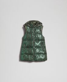 "Padded waistcoat with sequin embroidery ""Forest"" Green Woman 192ST2051-0S"