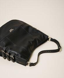 Сумка хобо из искусственной кожи с ремешками Черный женщина 202MA7041-02