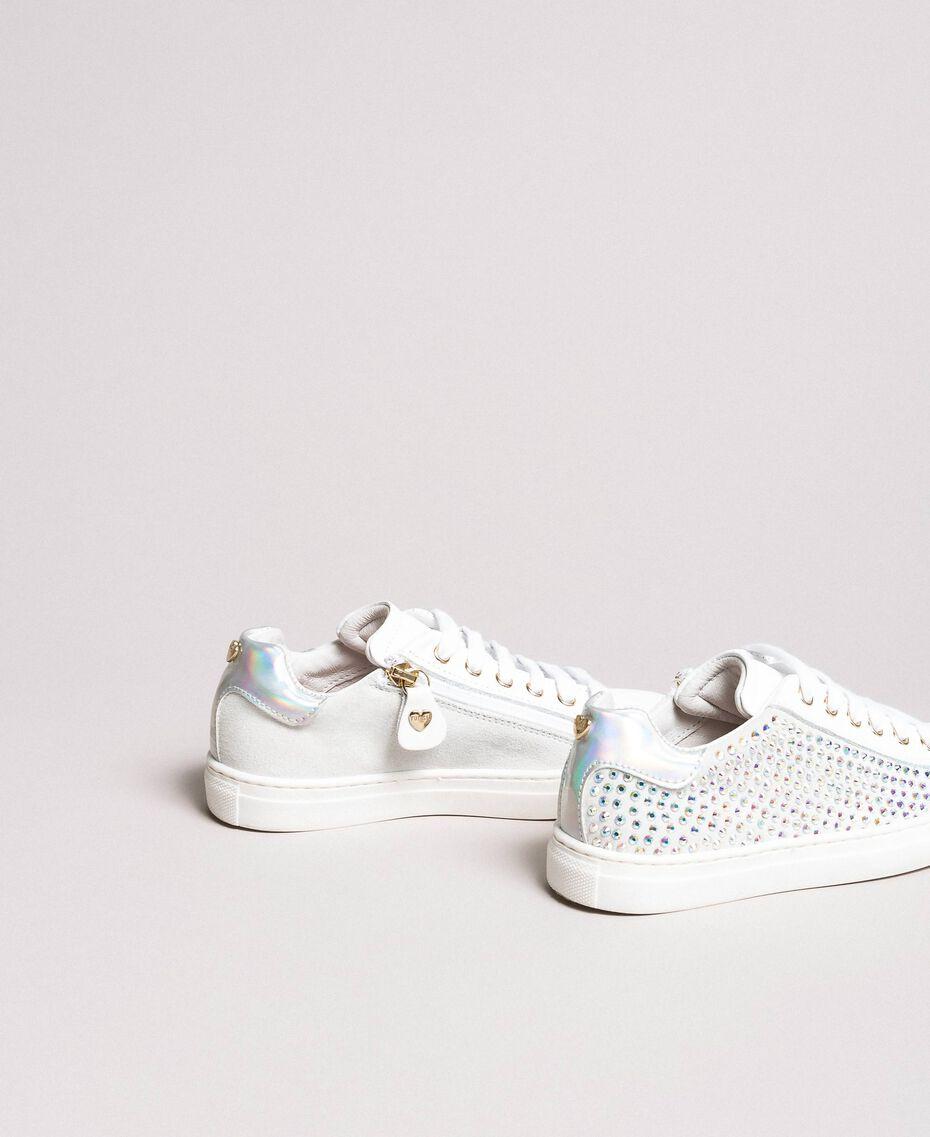 Leder-Sneakers mit Strass Chantily Kind 191GCJ070-03