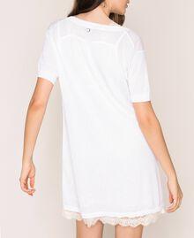 Mini-robe en lin mélangé avec fond de robe Noir Femme 201MT3021-04