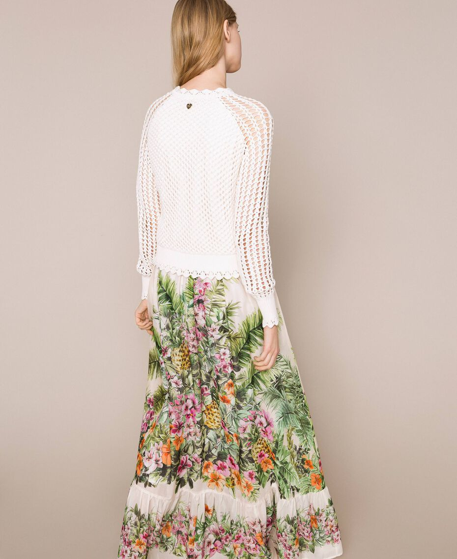 Long skirt with floral print Snow Jungle Flowers Print Woman 201TT2484-03
