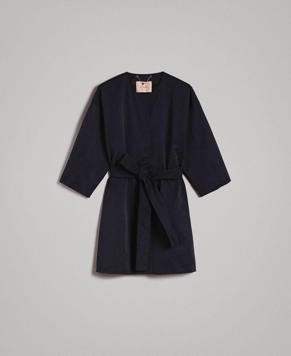 Manteau cache-poussière en taffetas Noir Femme 191TP2655-0S