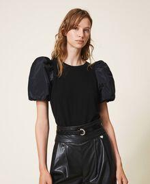 Кожаный ремень с ювелирной пряжкой Черная печать питона женщина 202TO5015-0S
