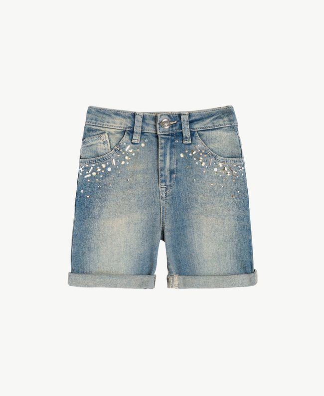 "Denim shorts ""Mid Denim"" Blue Child FS82T2-01"