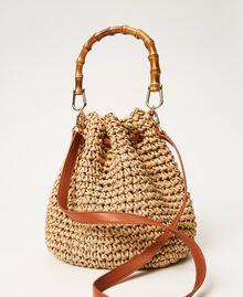 Weaved raffia bucket bag Straw Woman 211TD8241-03