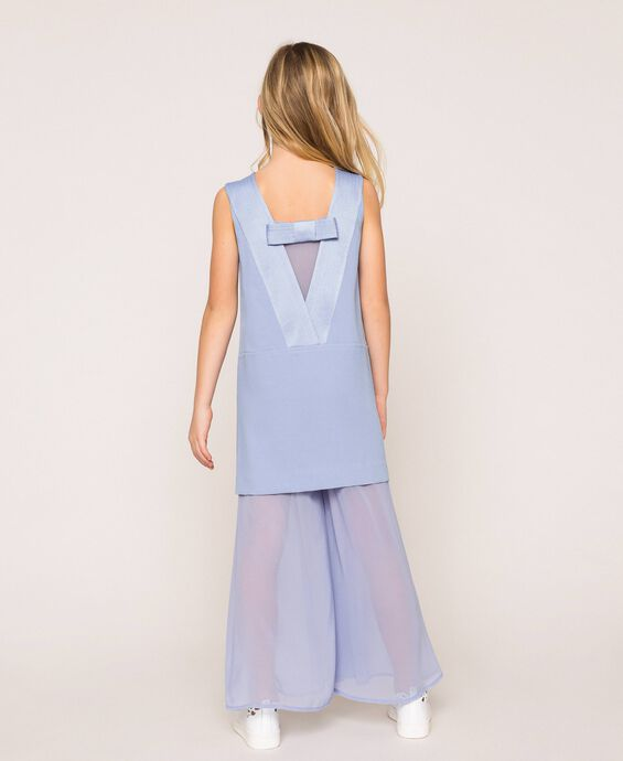 Georgette jumpsuit with bow