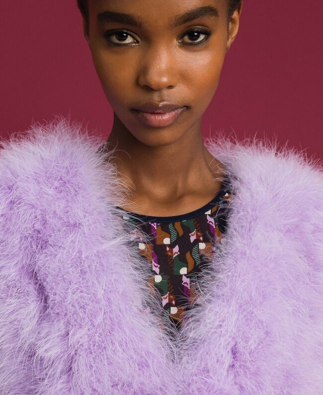 "Feather waistcoat ""Wisteria"" Purple Woman 192ST4790-04"