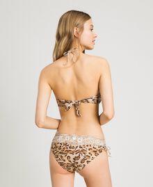 """Haut de bikini bandeau avec imprimé léopard et papillon Imprimé Animalier Marron """"Grès de Pétra"""" Femme 191LMMU11-03"""