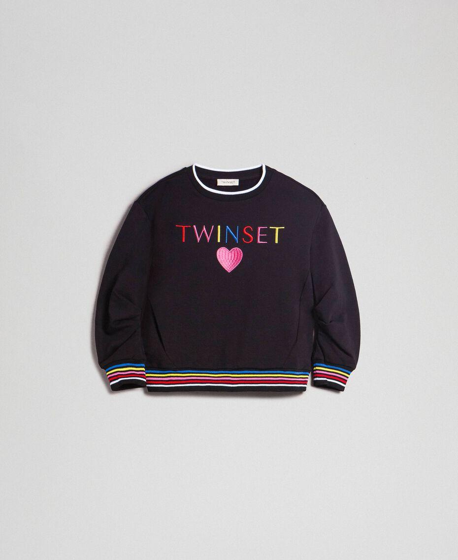 Sweatshirt with multicolour logo Black Child 999GJ2011-0S