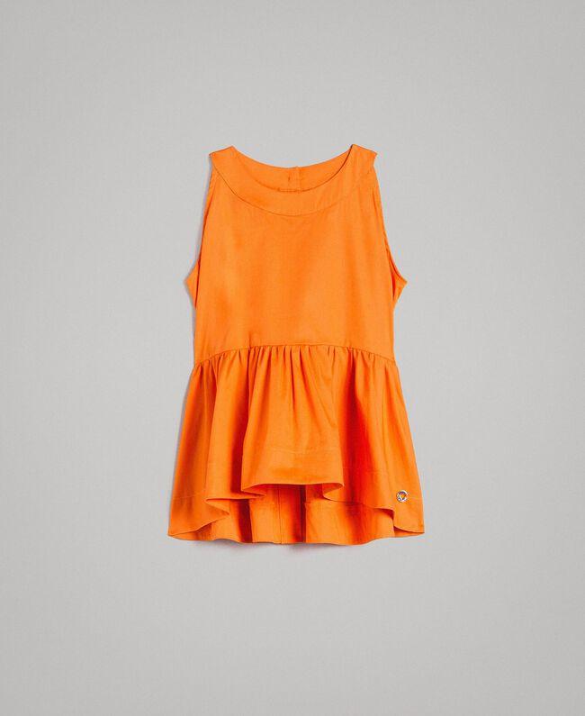 """Stretch-Oberteil aus Popeline """"Summer Orange"""" Kind 191GJ2412-01"""