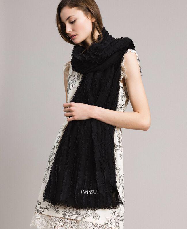 Cotton scarf Black Woman 191TA436A-0S
