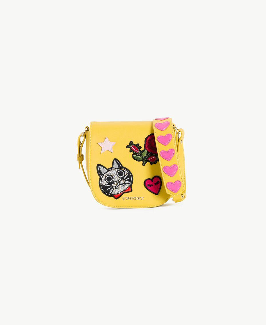 Sac à bandoulière patchs Vert Cèdre Enfant GS87BG-01