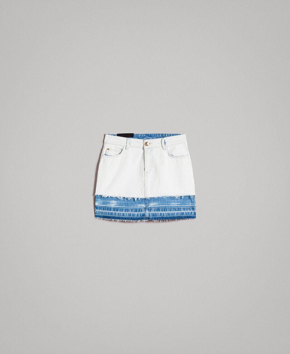 Minijupe en denim Bleu Denim Femme 191MT2433-0S