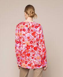 Blouse avec imprimé floral Imprimé Reve / Roses Femme 201TQ2020-05