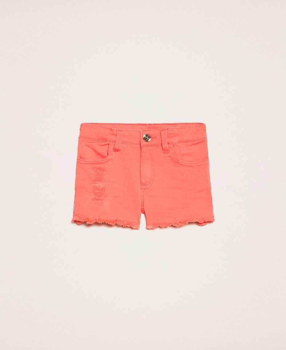 """Ripped shorts """"Calypso Coral"""" Red Child 201GB2031-01"""