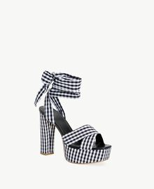 TWINSET Gingham sandals Black Woman DS8PB7-02