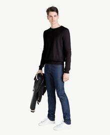 Pullover aus Baumwolle und Kaschmir Schwarz Mann US831B-05