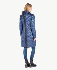 Long embroidered padded jacket Midnight Blue JA72KB-03