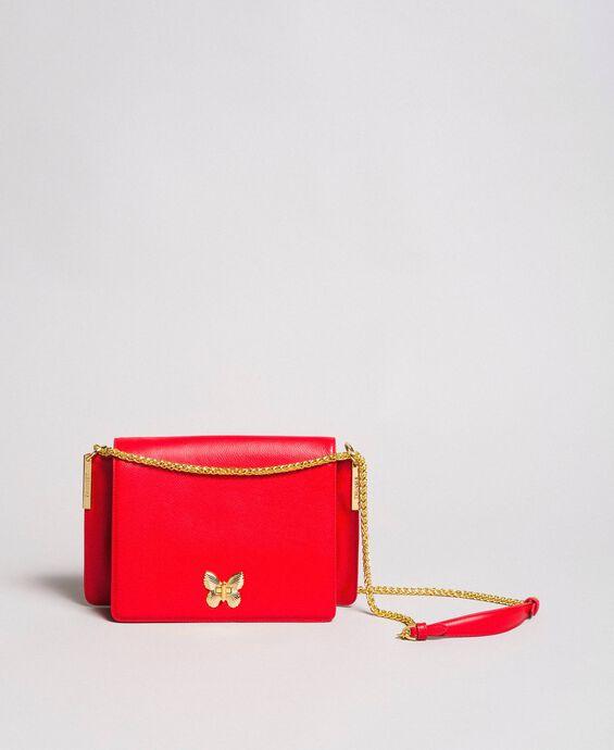 Large leather shoulder Bea bag