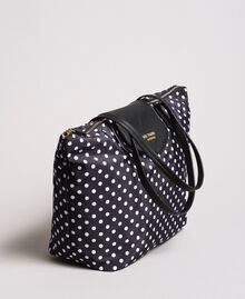 Polka dot foldable shopper bag White / Black Polka Dot Print Woman 191MA7120-02