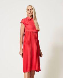 """Irena"" poplin long dress with pleats ""Coral Kiss"" Red Woman 211MT2092-03"