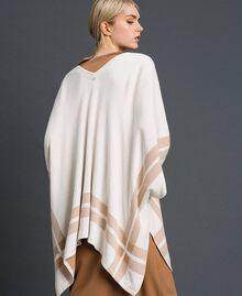 Cape réversible en maille Crème / Beige Nude Femme 192LI3ZBB-03