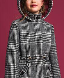 Houndstooth wool blend parka coat White / Black Houndstooth Child 192GJ2110-05